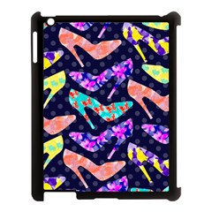 Colorful High Heels Pattern Apple iPad 3/4 Case (Black)