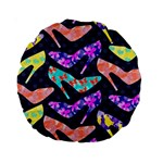 Colorful High Heels Pattern Standard 15  Premium Round Cushions Back