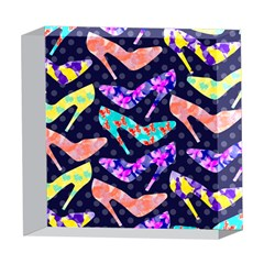 Colorful High Heels Pattern 5  x 5  Acrylic Photo Blocks