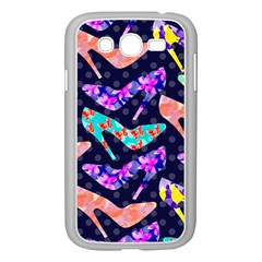 Colorful High Heels Pattern Samsung Galaxy Grand DUOS I9082 Case (White)
