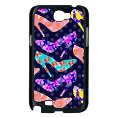 Colorful High Heels Pattern Samsung Galaxy Note 2 Case (Black)