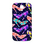 Colorful High Heels Pattern Samsung Galaxy S4 I9500/I9505  Hardshell Back Case Front