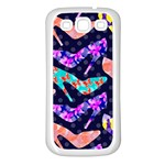 Colorful High Heels Pattern Samsung Galaxy S3 Back Case (White) Front