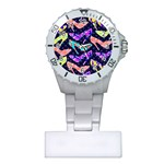 Colorful High Heels Pattern Plastic Nurses Watch Front