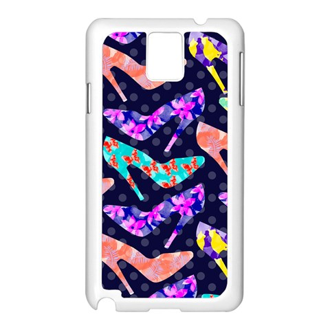 Colorful High Heels Pattern Samsung Galaxy Note 3 N9005 Case (White)