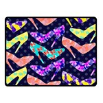 Colorful High Heels Pattern Double Sided Fleece Blanket (Small)  50 x40 Blanket Back