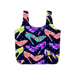 Colorful High Heels Pattern Full Print Recycle Bags (S)  Front