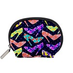 Colorful High Heels Pattern Accessory Pouches (Small)  Front