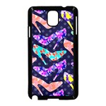 Colorful High Heels Pattern Samsung Galaxy Note 3 Neo Hardshell Case (Black) Front
