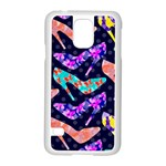 Colorful High Heels Pattern Samsung Galaxy S5 Case (White) Front