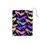 Colorful High Heels Pattern Drawstring Pouches (Small)  Front