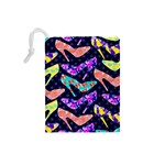 Colorful High Heels Pattern Drawstring Pouches (Small)  Back