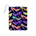 Colorful High Heels Pattern Drawstring Pouches (Medium)  Back