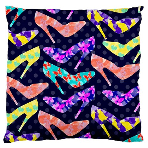 Colorful High Heels Pattern Large Flano Cushion Case (Two Sides)