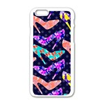 Colorful High Heels Pattern Apple iPhone 6/6S White Enamel Case Front