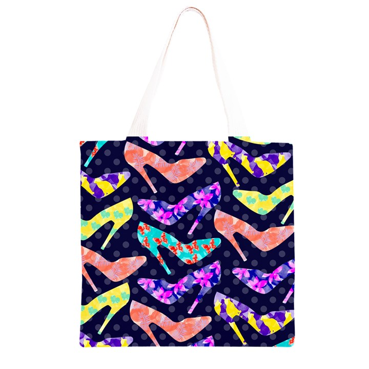 Colorful High Heels Pattern Grocery Light Tote Bag