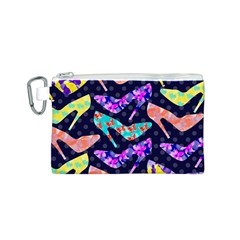 Colorful High Heels Pattern Canvas Cosmetic Bag (s)