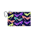 Colorful High Heels Pattern Canvas Cosmetic Bag (S) Front