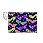 Colorful High Heels Pattern Canvas Cosmetic Bag (M) Front