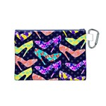 Colorful High Heels Pattern Canvas Cosmetic Bag (M) Back