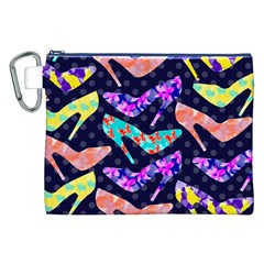 Colorful High Heels Pattern Canvas Cosmetic Bag (xxl)