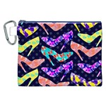 Colorful High Heels Pattern Canvas Cosmetic Bag (XXL) Front