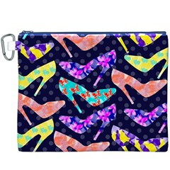 Colorful High Heels Pattern Canvas Cosmetic Bag (XXXL)