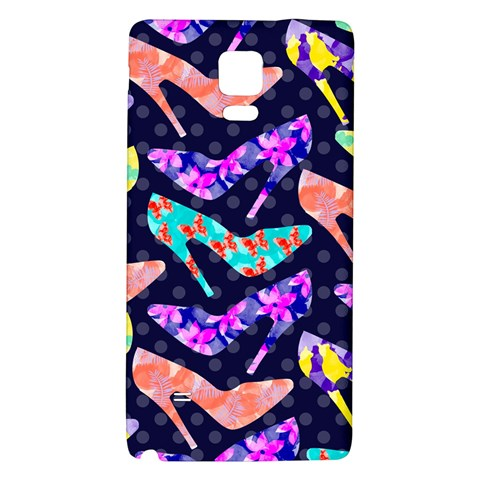 Colorful High Heels Pattern Galaxy Note 4 Back Case