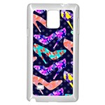Colorful High Heels Pattern Samsung Galaxy Note 4 Case (White) Front