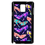 Colorful High Heels Pattern Samsung Galaxy Note 4 Case (Black) Front
