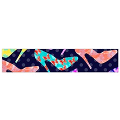 Colorful High Heels Pattern Flano Scarf (Small)