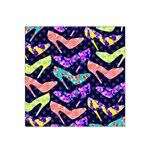 Colorful High Heels Pattern Satin Bandana Scarf Front