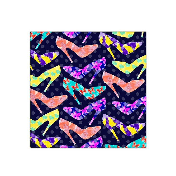 Colorful High Heels Pattern Satin Bandana Scarf