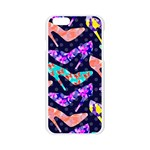Colorful High Heels Pattern Apple Seamless iPhone 6/6S Case (Transparent) Front