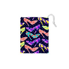 Colorful High Heels Pattern Drawstring Pouches (xs)