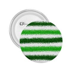Metallic Green Glitter Stripes 2.25  Buttons