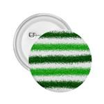 Metallic Green Glitter Stripes 2.25  Buttons Front