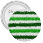 Metallic Green Glitter Stripes 3  Buttons Front