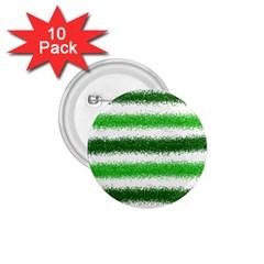 Metallic Green Glitter Stripes 1.75  Buttons (10 pack)