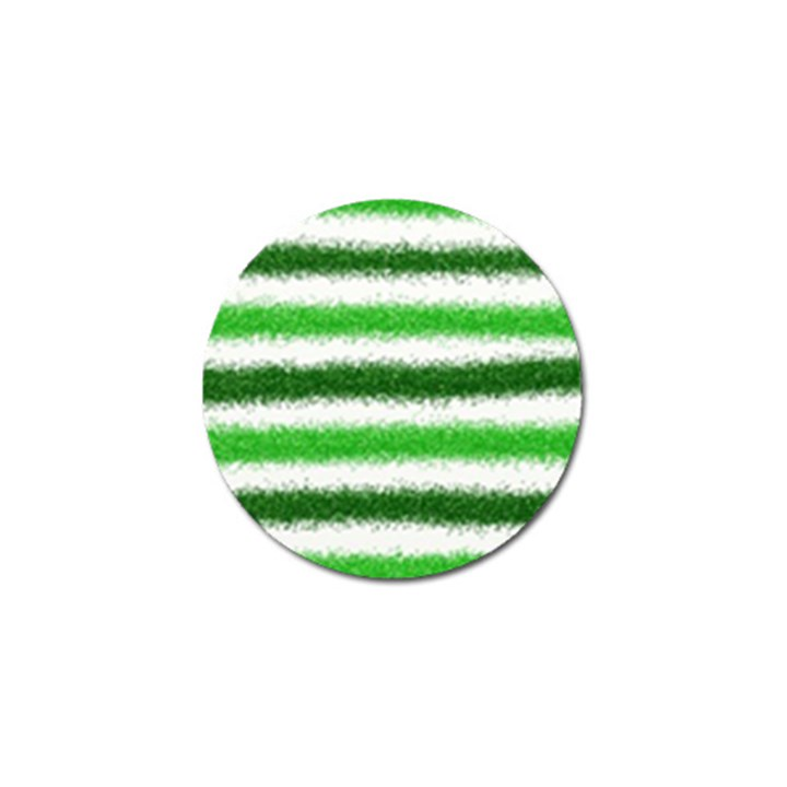 Metallic Green Glitter Stripes Golf Ball Marker