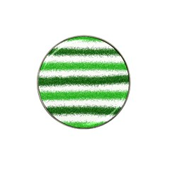 Metallic Green Glitter Stripes Hat Clip Ball Marker