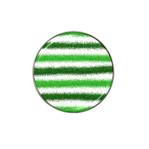 Metallic Green Glitter Stripes Hat Clip Ball Marker (10 pack)