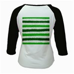 Metallic Green Glitter Stripes Kids Baseball Jerseys Back