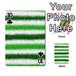 Metallic Green Glitter Stripes Playing Cards 54 Designs  Front - Club10