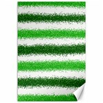 Metallic Green Glitter Stripes Canvas 12  x 18   18 x12 Canvas - 1
