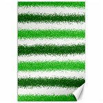 Metallic Green Glitter Stripes Canvas 20  x 30   30 x20 Canvas - 1