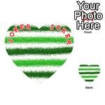 Metallic Green Glitter Stripes Playing Cards 54 (Heart)  Front - Joker2