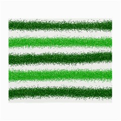 Metallic Green Glitter Stripes Small Glasses Cloth (2-Side)