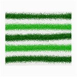 Metallic Green Glitter Stripes Small Glasses Cloth (2-Side) Front