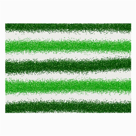 Metallic Green Glitter Stripes Large Glasses Cloth (2-Side)